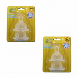 Bumble Bee X Cut Wideneck Teat Twin Pack - M