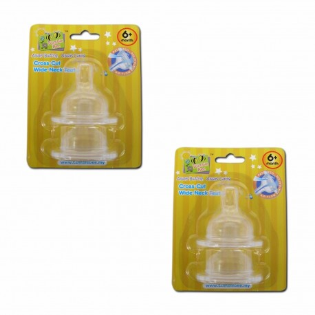 Bumble Bee X Cut Wideneck Teat Twin Pack - M size (WE0006)