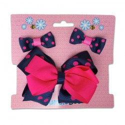 Bumble Bee Hair Clips Set (Red) (XLA0033)