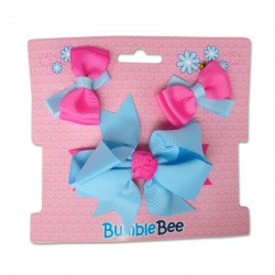 Bumble Bee Hair Clips Set (Blue) (XLA0032)