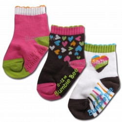 Bumble Bee 3 Pair Pack Smile Socks (S0058)