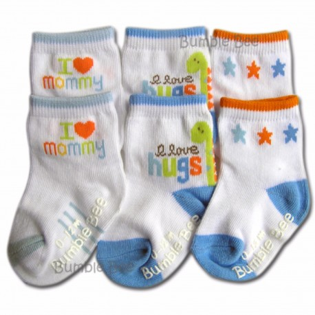 Bumble Bee 3 Pair Pack I Love Mommy Sock