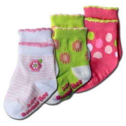 Bumble Bee 3 Pairs Pack Spring Daisy Socks (S0078L)