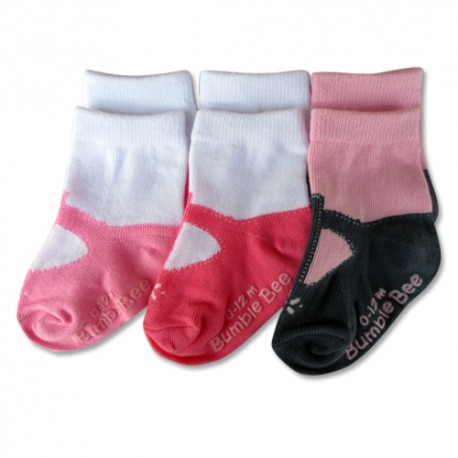 Bumble Bee 3 Pairs Pack Mary Jane Socks