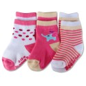 Bumble Bee 3 Pairs Pack Girl Pink Elephant Socks (S0108M)