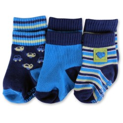 Bumble Bee 3 Pairs Pack Boy Plane Socks (S0100M)