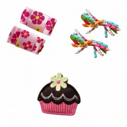 Bumble Bee Elegant Hair Clips (3 packs)  Design 5