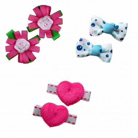 Bumble Bee Elegant Hair Clips (3 packs)  Design 8