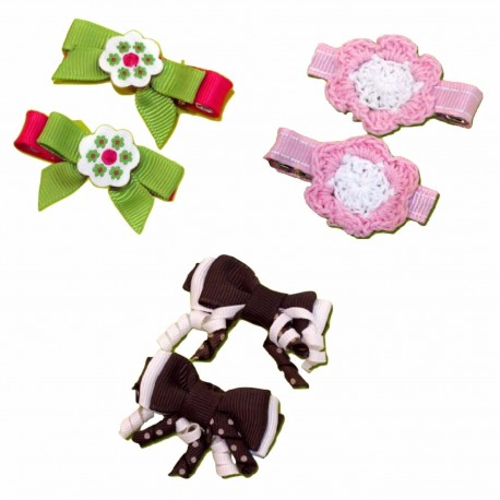 Bumble Bee Elegant Hair Clips (3 packs)  Design 12