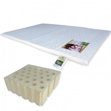 "Bumble Bee Latex Playpen Mattress 26x38x1"" with Fitted Playpen Sheet"