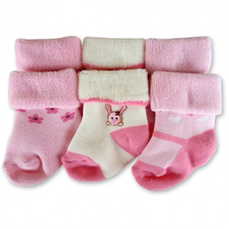 Bumble Bee 3 Pairs Pack Rabbit Terry Socks