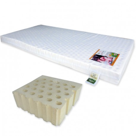 """Bumble Bee Latex Baby Mattress 24x48x2"""" with Fitted Crib Sheet"""