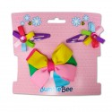 Bumble Bee Hair Clips Set (Multicolour) (XLA0030)