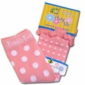 Bumble Bee Hand & Leg Warmers - Pink Polka with Curls (HLM0014)