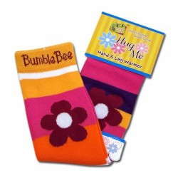 Bumble Bee Hand & Leg Warmers - Chunky Stripes (HLM0004)
