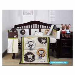 Bumble Bee 7pc Embroidery Crib Set (Monkey Business)