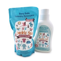 Bumble Bee Baby Safe Laundry Detergent (TWIN PACK – Bottle 1L + Refill Pack 900ml)