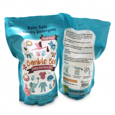 Bumble Bee Baby Safe Laundry Detergent (TWIN PACK – Refill Pack 2 x 900ml)