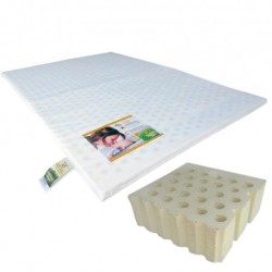 "Bumble Bee Latex Playpen Mattress 28x41x2"" with Fitted Playpen Sheet"