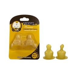 Fiffy Natural Rubber Teats C/W Anti-Colic Vent (19468010)
