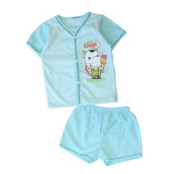 "FIFFY ""Cow"" Short Sleeve Vest Suit -19468060"