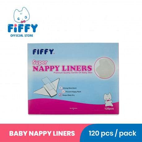 FIFFY SUPER NAPPY LINERS (120'S) -19467950