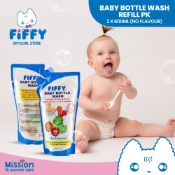 FIFFY Bottle Wash Refill Pack No Flavor 98-624 (600ml x 2) - 20490450