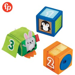 Fisher Price Stack and Discover Sensory Blocks 3 Colorful Baby Toys