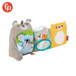Fisher Price Sit  and  Snuggle Activity Book Plush Animal Baby Toy