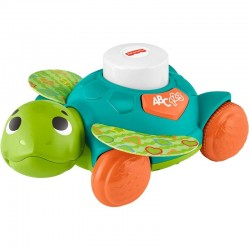 Fisher Price Linkimals Sit-to-Crawl Sea Turtle, Light-up Musical Crawling Toy