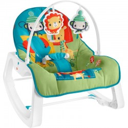 Fisher Price Infant to Toddler Rocker Colorful Jungle, Baby Rocking Chair with Toys