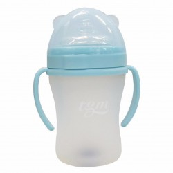 BabyBaby2U BLUE Full Silicone w/ Temperature Sensor Feeding Bottle 180ml