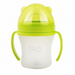 BabyBaby2U GREEN 260ml (L) Full Silicone w/ Temperature Sensor Feeding Bottle