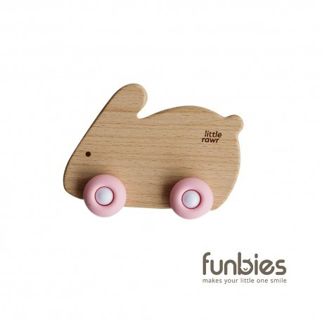 Funbies Wood Wheelie Animal (Rabbit)
