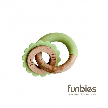 Funbies Critter + Teething Ring (Pistachio)