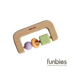 Funbies Timber + Bead D Teether