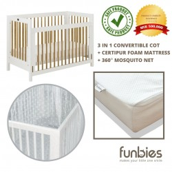 Funbies Clover Baby Cot Set (White)