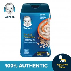 Gerber DHA  and  Probiotic Oatmeal Baby Cereal 227g (Expiry Date: 13.11.2020)