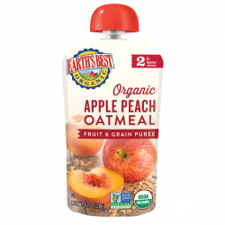 Earth's Best Apple Peach Oatmeal Fruit and Grain Puree