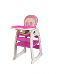 Hugo Baby Exclusive Mamakids 2 In 1 Baby High Chair (Pink)