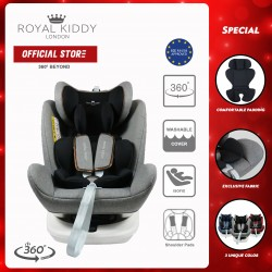 JPJ Approved Royal Kiddy London RK 360 BEYOND ISOFIX Carseat (Grey)