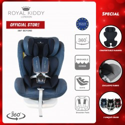 JPJ Approved Royal Kiddy London RK 360 BEYOND ISOFIX Carseat (Blue)