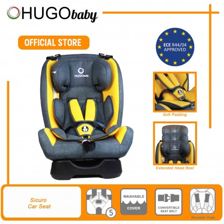 Hugo Baby Sicuro Reclining Car Seat Group 0 to 3 (Yellow)