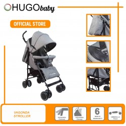 Hugo baby Vagonda Umbrella Portable Baby Stroller - Suitable From New Born to 3 Years Old (GREY)