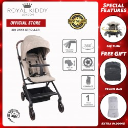 Royal Kiddy London 360 ONYX Stroller (Brown)