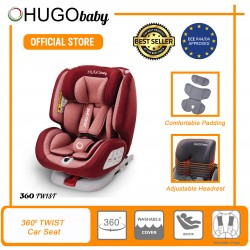 JPJ APPROVED Hugo Baby 360 Twist Baby Car Seat (Red)