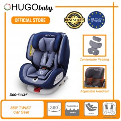 JPJ APPROVED Hugo Baby 360 Twist Baby Car Seat (Blue)