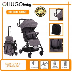 Hugo Baby Exclusive Adatto AX1 Portable Stroller (Grey)