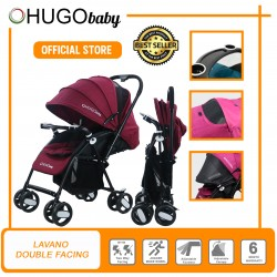 Hugo Baby Lavano Double Facing (Front and Rear) Baby Stroller (RED)