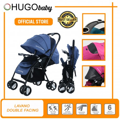 Hugo Baby Lavano Double Facing (Front and Rear) Baby Stroller (BLUE)